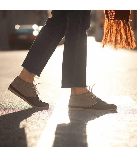 Botas de Piel Vegana Para Mujer Horus Marrón Oscuro