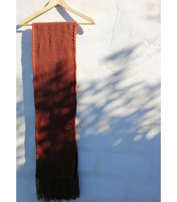 Tile Vegan Wool Scarf With Fringes