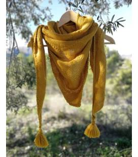 Triangel Vegan Wool Scarf In Mustard