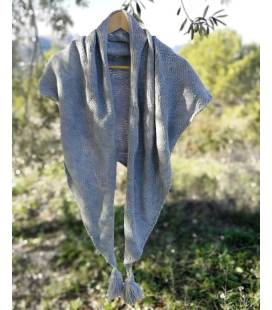 Triangel Vegan Wool Scarf In Gray