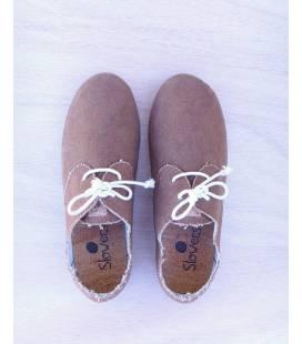 Zapatos con cordones Blucher Pixie Taupe