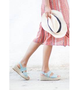 Espadrille Wedges Mar Aquamarine