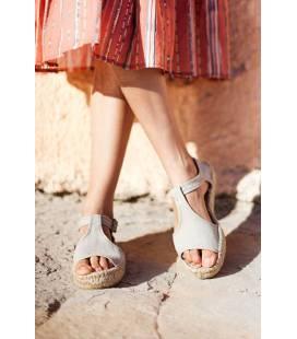 Espadrille Platform Sandals Luna Aluminum