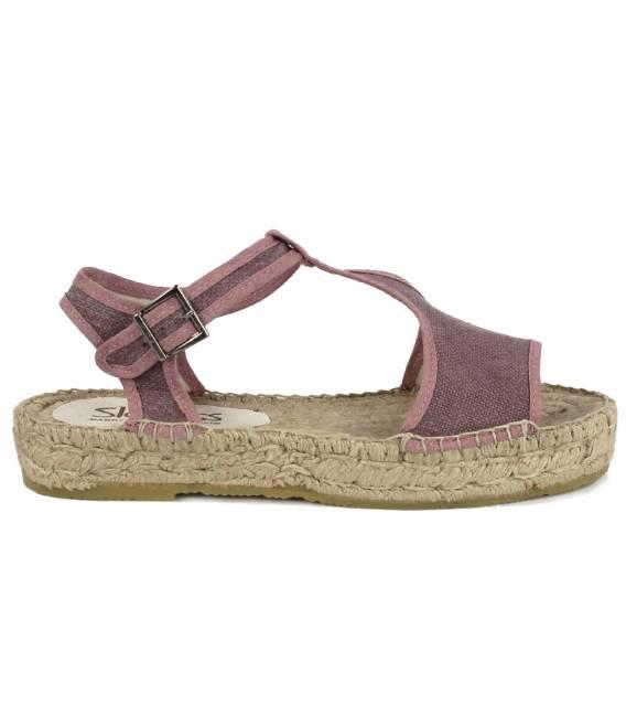 Espadrille Platform Sandals Luna Aubergine