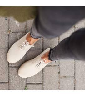 Zapatos con cordones Blucher Pixie Marfil