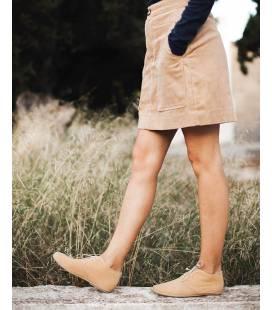 Beige Pixie Booty Vegan Shoes