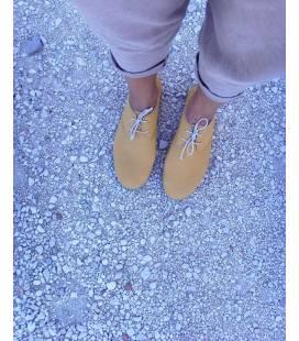 Zapatos con cordones Blucher Pixie Mostaza