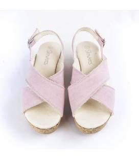 Cork Wedge Sandals Selene Pink
