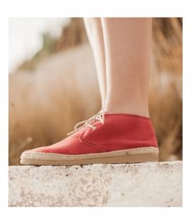 Botin con cordones Blucher Circe Rojo