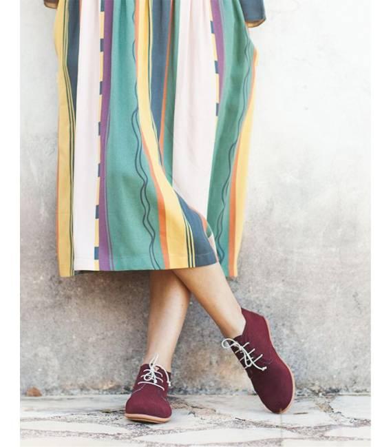 AINE Vegan ankle boots Bordeaux