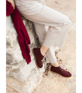 AINE Vegan ankle boots Bordeaux