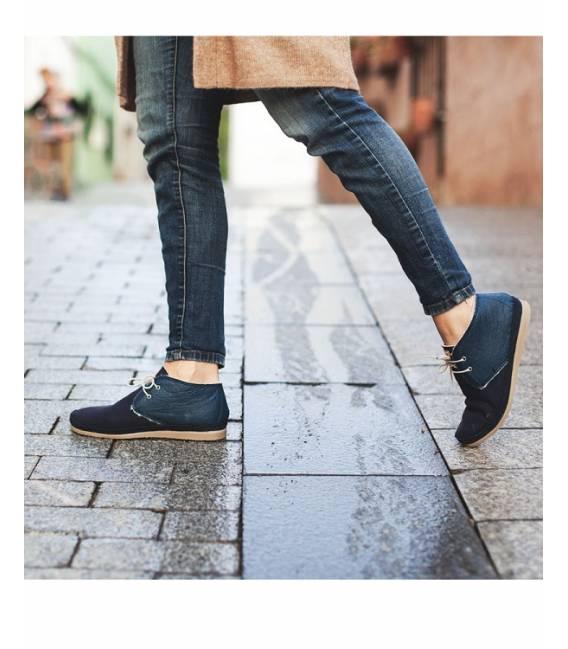 Botas de piel vegana para Mujer Horus Marino