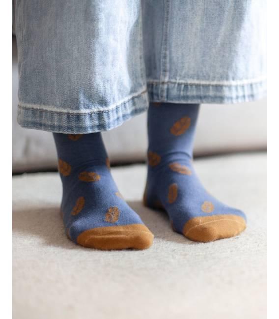 Calcetines de algodón orgánico Azules