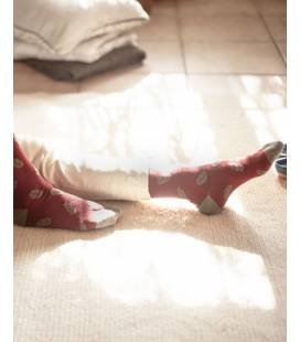 PACK 2 - Calcetines de algodón orgánico Burdeos
