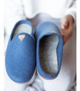 Zapatilla de casa para mujer Vesta Azul