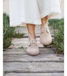 Zapatos con cordones Blucher Pixie Camel