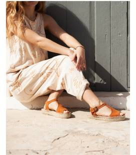 PRESALE Espadrille Platform Sandals Luna Pumpkin