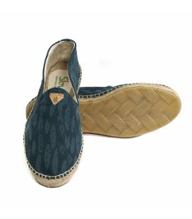 Flat Espadrilles Akane Blue Leaves