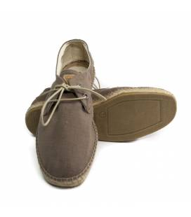 Lace-up Espadrilles Jove Brown Linen