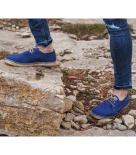 Lace-up Espadrilles Jove Blue Linen