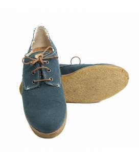 Zapato de algodón orgánico Hermes Azul Petróleo
