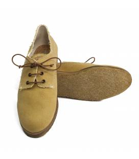Zapato de algodón orgánico Hermes Ocre