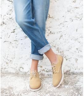 Zapatos de algodón orgánico Gea Ocre