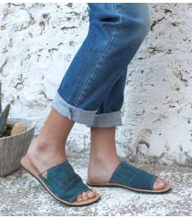 Slip on Sandals Bemba Blue Petrol
