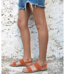 Flat Sandals Makena Tangerine