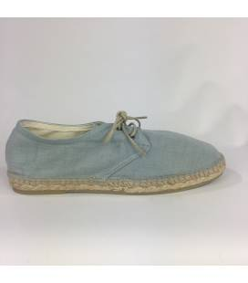 Lace-up Espadrilles Jove Grey Linen