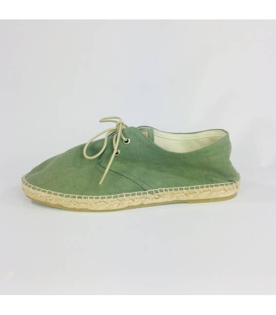 a548e039f Lace-up Espadrilles Jove Green Linen. Buy Online