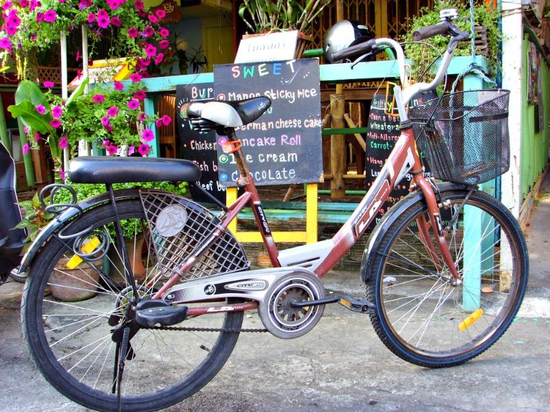Aquí Chop Chop, mi estilosa bici tailandesa