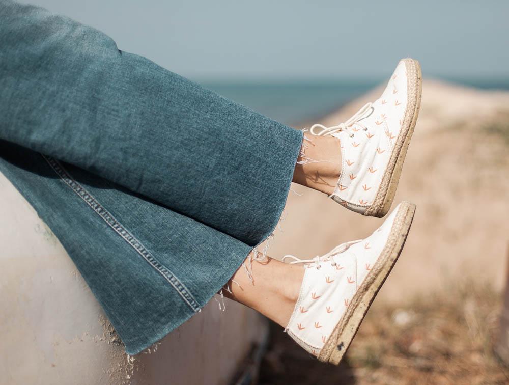Las suelas de nuestras Circe están hechas con zapatos triturados.