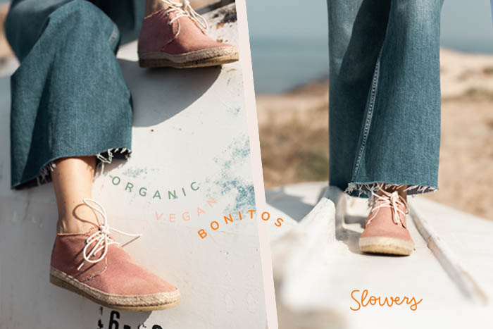 Zapatillas mediterráneas para mujer, veganas, sostenibles, algodón orgánico y bonitas.