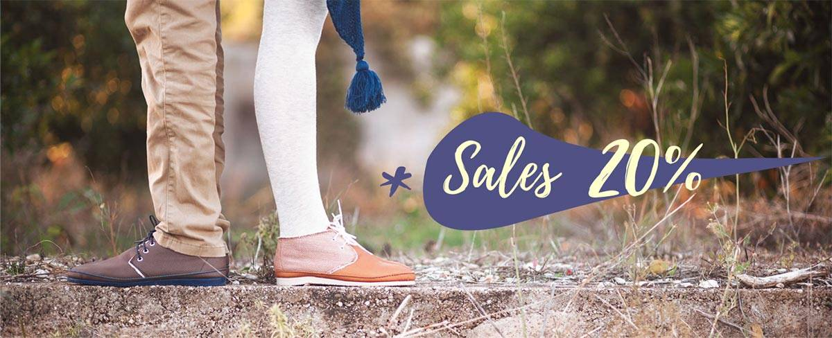 Sales SLowers shop online. Vegan and organic shoes for women, men and childs