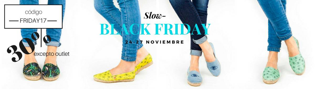 Blackfriday en Slowers Shoes. Calzado vegano, orgánico y ecológico